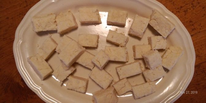 Instructions for baking traditional shortbread cookies