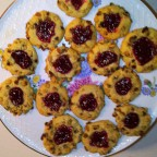 Walnut Raspberry Thumbprint Cookies
